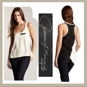 Patterson J. Kincaid Sold Out Lace Open Back Top